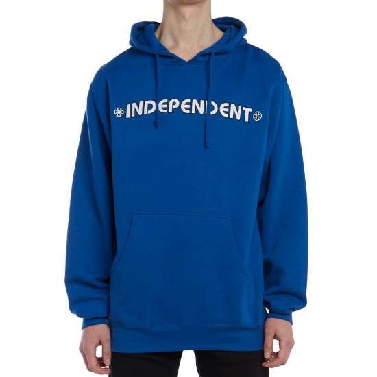 Independent Bar Cross Pullover Hoodie - Royal Blue