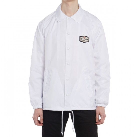 Independent Indy Patch Coach Windbreaker Jacket - White