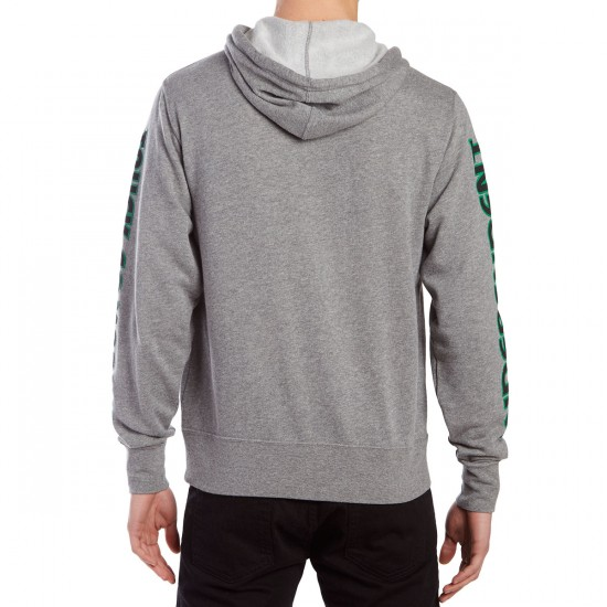 Independent Stacked Color Zip Up Hoodie - Gunmetal Heather