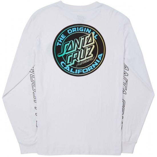 Santa Cruz Cali Fade 2 Long Sleeve T-Shirt - White