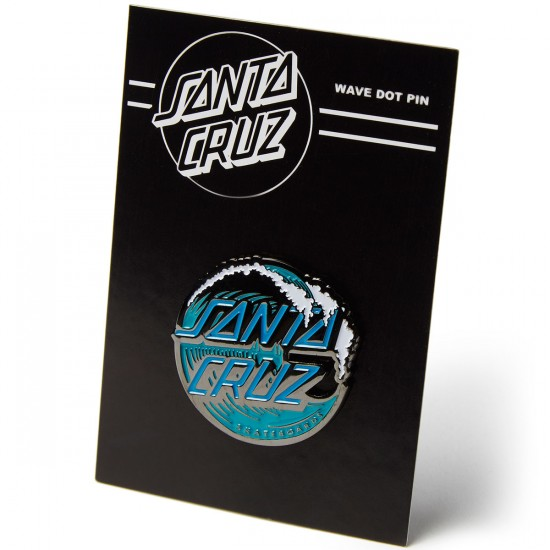 Santa Cruz Wave Dot Pin - Teal/Blue