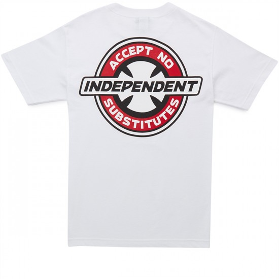 Independent X CCS Accept No Substitutes T-Shirt - White