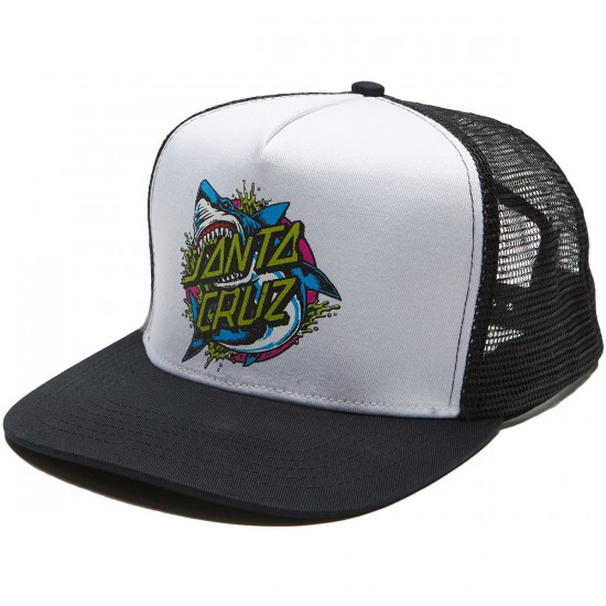 Santa Cruz Shark Dot Trucker Hat - Black