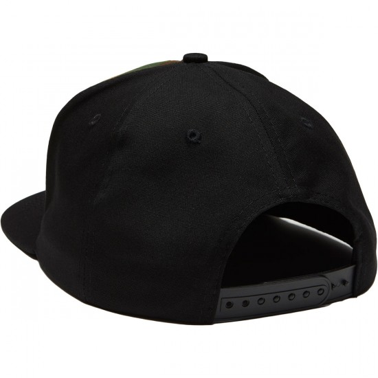 Independent Concealed Snapback Hat - Camo/Black