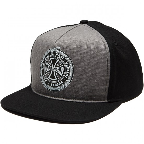 Independent Past Present Future Snapback Hat - Grey/Black