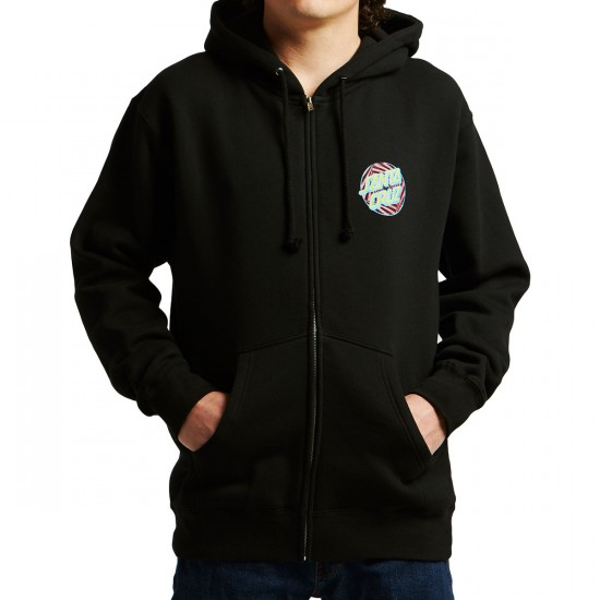 Santa Cruz Party Dot Zip Hoodie - Black