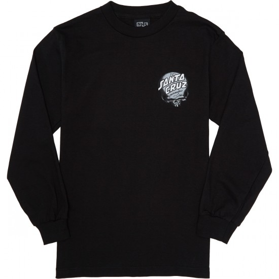 Santa Cruz O'Brien Skull Long Sleeve T-Shirt - Black