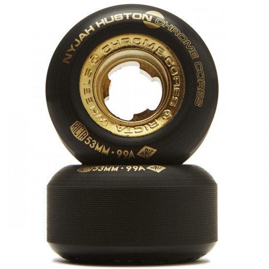 Ricta Nyjah Huston Chrome Core 99a Skateboard Wheels - Black - 53mm