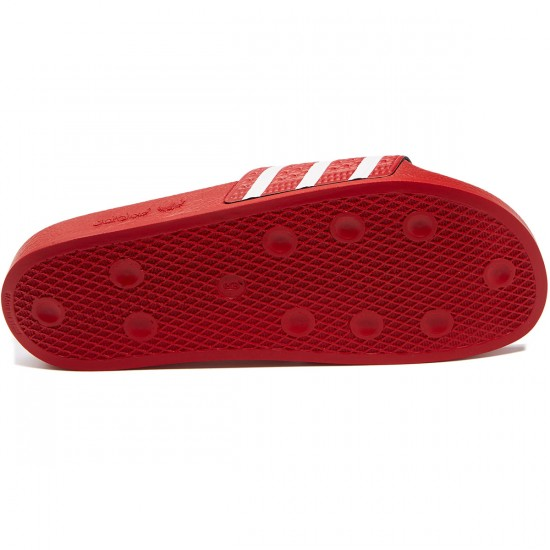 Adidas Adilette Slides - Light Scarlet/White - 7.0