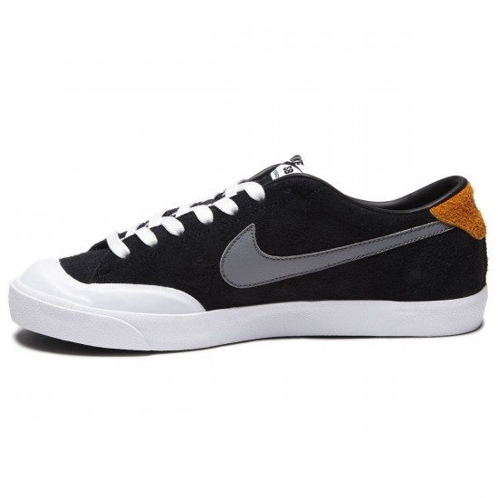 Nike Zoom All Court CK Shoes - Black/Vivid Orange/White/Grey - 7.0