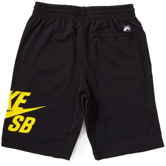 Nike SB Dry Sunday Shorts - Black/Tour Yellow
