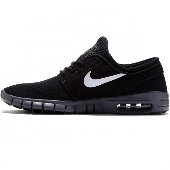 Nike Stefan Janoski Max Shoes - Black/Dark Grey/White - 7.0