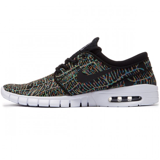 Nike Stefan Janoski Max Premium Shoes - Black/White/Multi - 9.0