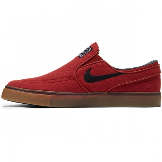 Nike Zoom Stefan Janoski Slip-On Shoes - Dark Cayenne/Gum/Brown/White - 7.0