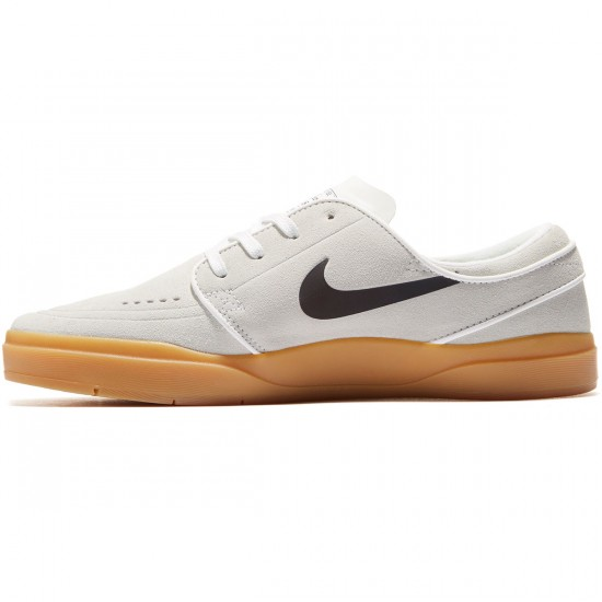 Nike SB Stefan Janoski Hyperfeel Shoes - Summit White/Black/Gum Light Brown - 8.0