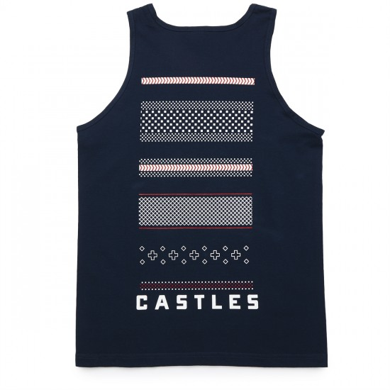Crooks and Castles Lost Tribe Tank Top - Navy