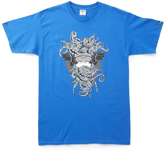 Crooks and Castles Tako Medusa T-Shirt - Cobalt