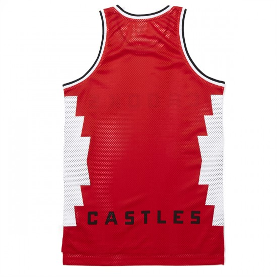 Crooks and Castles Tribal Knit Basketball Jersey - True Red