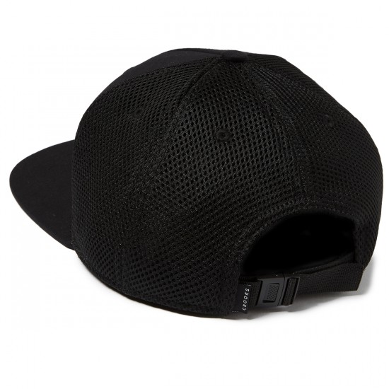Crooks and Castles Crooks Metal Badge Strapback Hat - Black