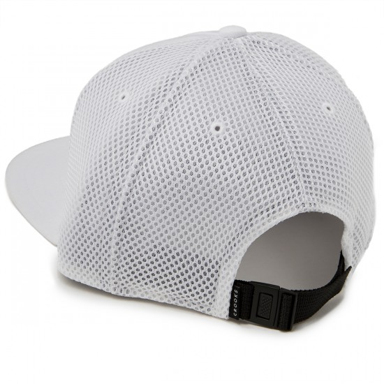 Crooks and Castles Crooks Metal Badge Strapback Hat - White