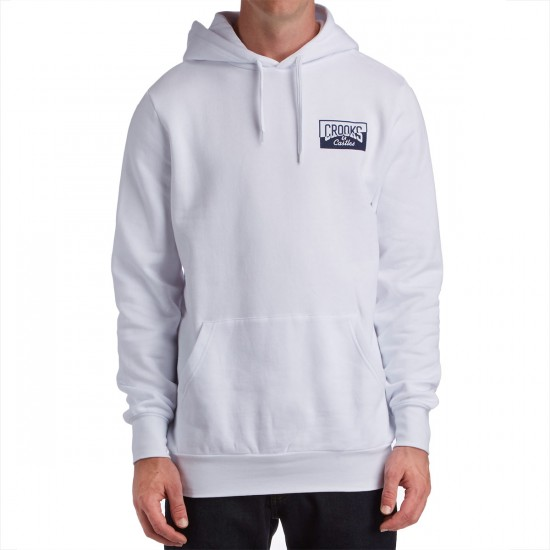 Crooks and Castles Worldwide Pullover Hoodie - White