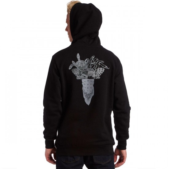 Crooks and Castles Worldwide Pullover Hoodie - Black