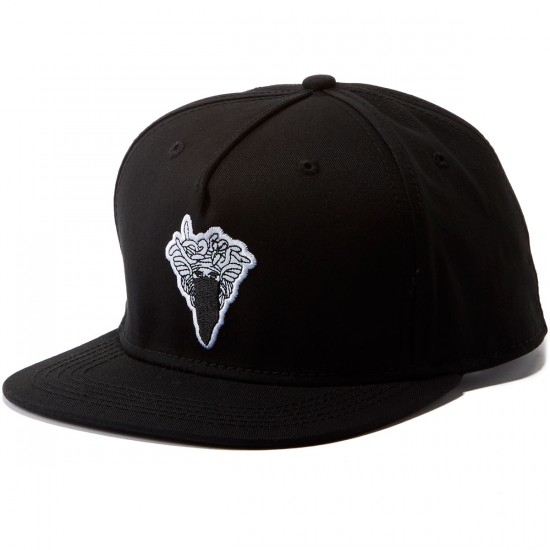 Crooks and Castles Medusa Patch Snapback Hat - Black