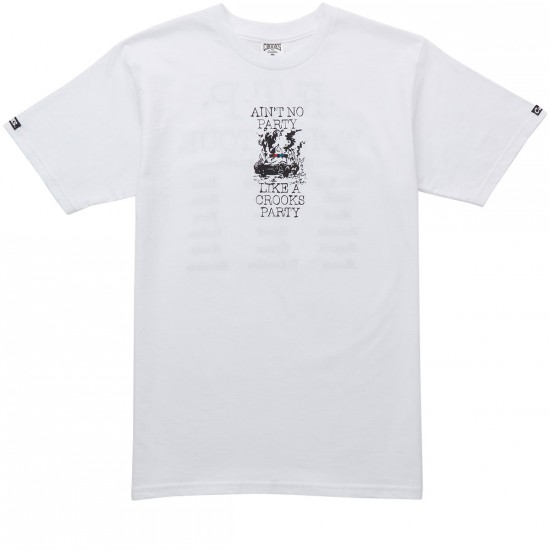 Crooks and Castles Socialist T-Shirt - White