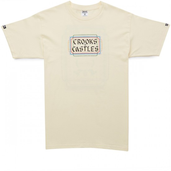 Crooks and Castles Memento T-Shirt - Creme