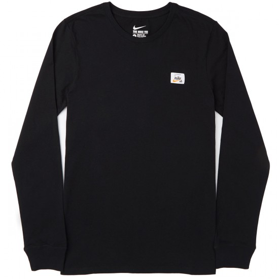 Nike SB X Numbers Long Sleeve T-Shirt - Black/Black