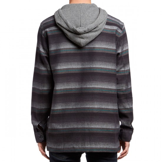 Billabong Baja Hooded Flannel Shirt - Black