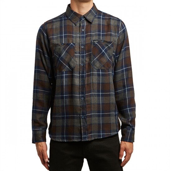 Matix Sycamore Flannel Shirt - Heather Charcoal