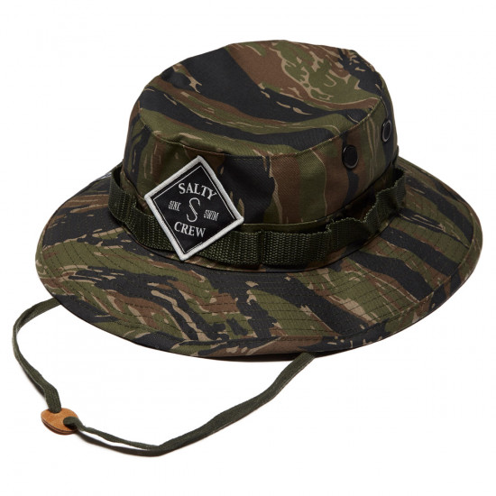 35d30abf8713c Salty Crew Tippet Patched Bucket Hat - Tiger