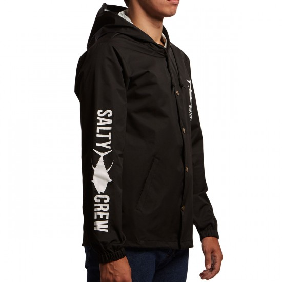 Salty Crew Fisher Snap Jacket - Black