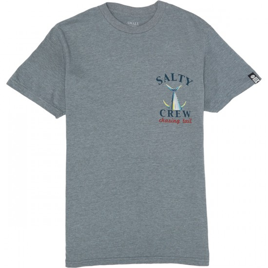 Salty Crew Chasing Tail Heathers T-Shirt - Graphite Heather