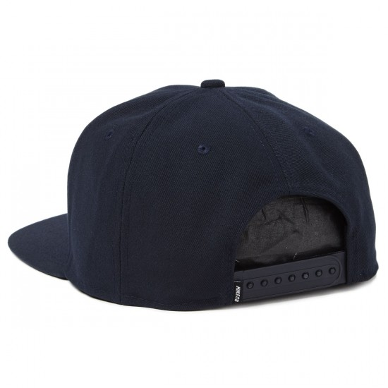 Nike SB Icon Snapback Hat - Dark Obsidian/Black/Blue