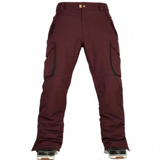 686 Authentic Infinty Shell Cargo Snowboard Pants - Black Ruby