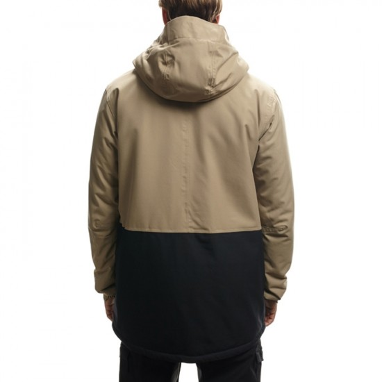686 Authentic Moniker Insulated Snowboard Jacket - Khaki Colorblock