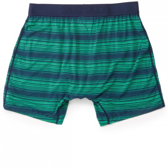 Saxx Ultra Boxer Fly Underwear - Navy/Grass Ombre Stripe