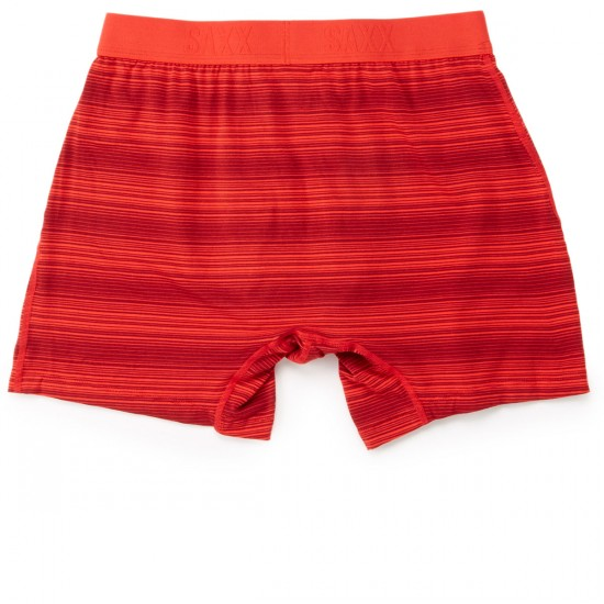Saxx Ultra Boxer Fly Underwear - Red Hot Ombre Stripe