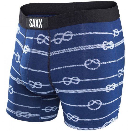 Saxx Vibe Boxer Modern Fit Boxer Brief - Navy Rope