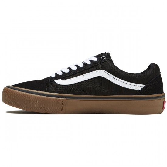 Vans Old Skool Pro Shoes - Black/Gum/White - 8.0