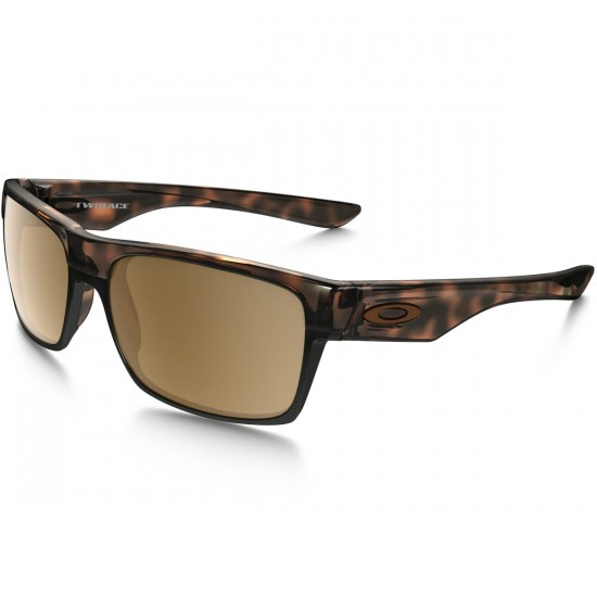 Oakley Two Face Sunglasses - Polished Brown Tortoise/Tungsten Iridium