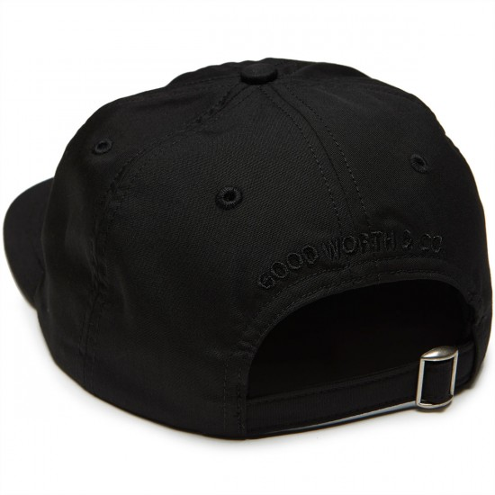 Good Worth 5-0 Strapback Hat - Black