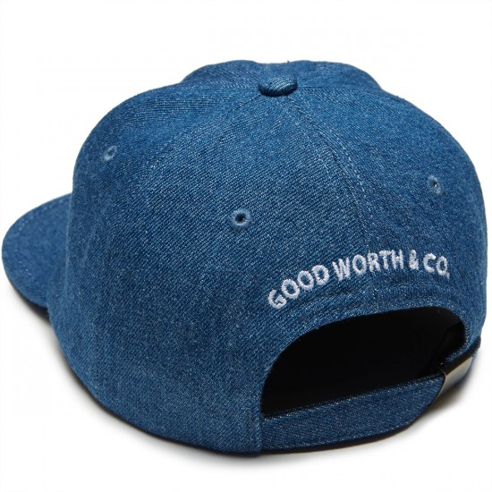 Good Worth Best Wishes Strapback Hat - Denim