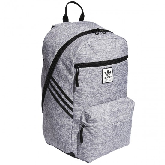 Adidas Originals National SST Recycled Backpack - Jersey Grey/Black