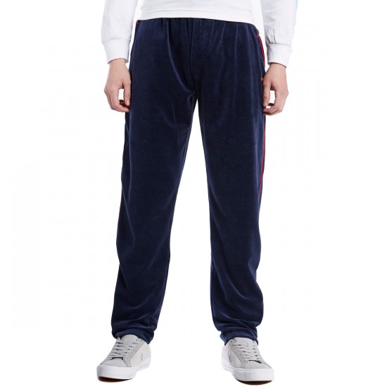 Fila Piped Velour Pants - Navy/Chinese Red/White - LG