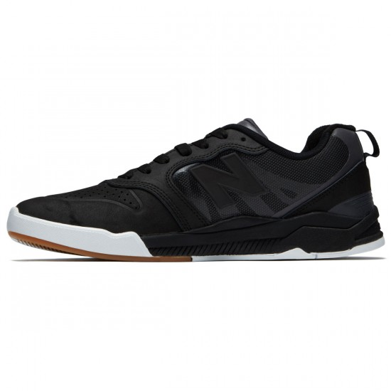 New Balance Numeric 868 Shoes - Black/Black/White