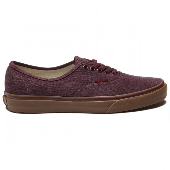 Vans Original Authentic Shoes - Washed Canvas/Port Royale/Gum - 8.0