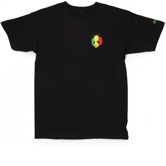 Enjoi Rastafari Panda T-Shirt - Black
